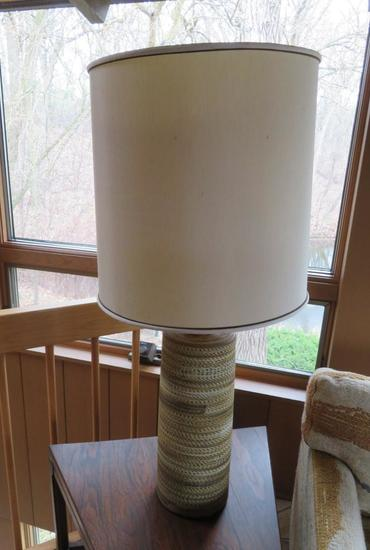 Mid Century Modern table lamp, working, 38""