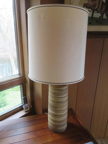 "Mid Century Modern table lamp, 38"", not working - appears to need new switch"