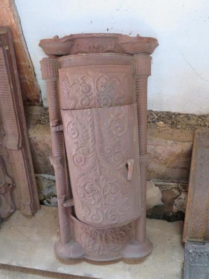 Cast Iron stove fronts, two pieces