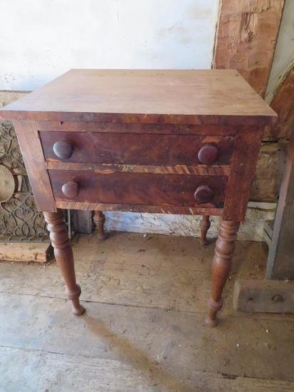 Early two drawer side table