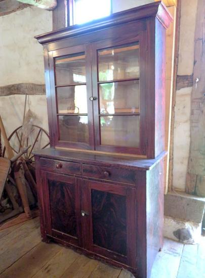 Early two piece kitchen cupboard