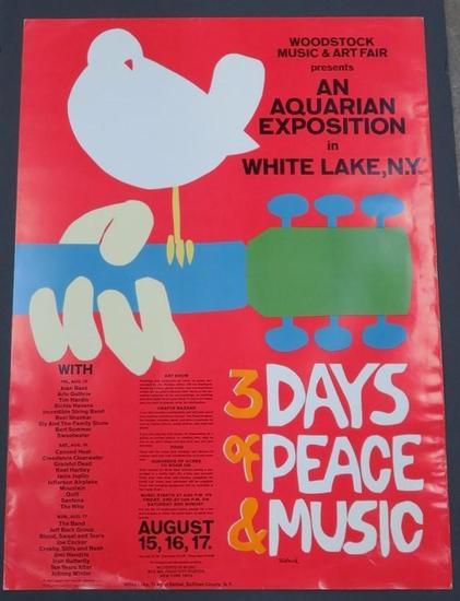 Woodstock Original Poster, 1969 by Arnold Skolnick