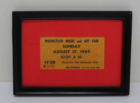 "Woodstock Music and Art Fair Ticket, 4"""