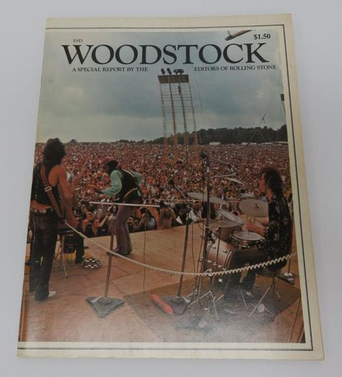 Woodstock Special Report by the Editors of Rolling Stone, 1969, paperback