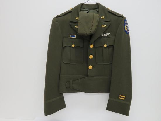 Eisenhower Jacket, Regulation Army Officers Uniform, Airborne Troop Carrier, and Garrison hat