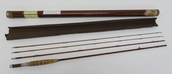 Orvis split bamboo Fly Rod, three piece with extra tip, 8 1/2'