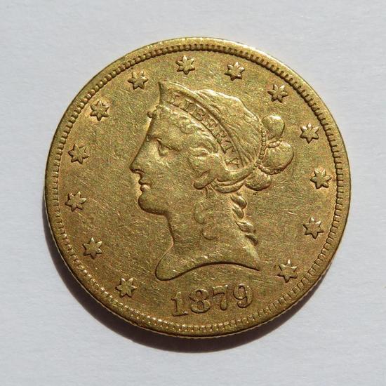 1879 Ten dollar gold piece