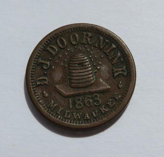 1863 DJ Doornink, Milwaukee, Groceries and Dry Goods