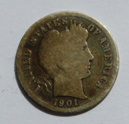 1901 S Barber dime