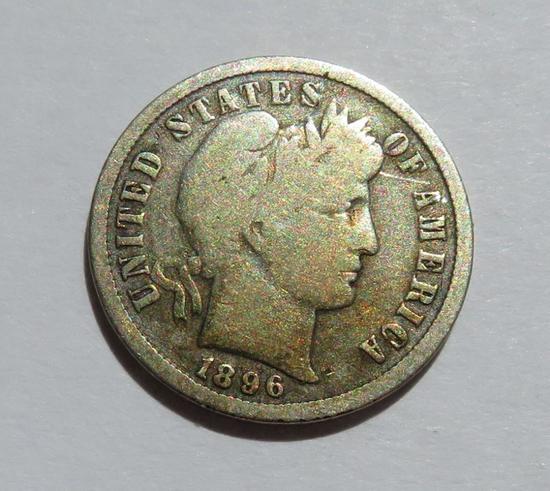 1896 S Barber dime