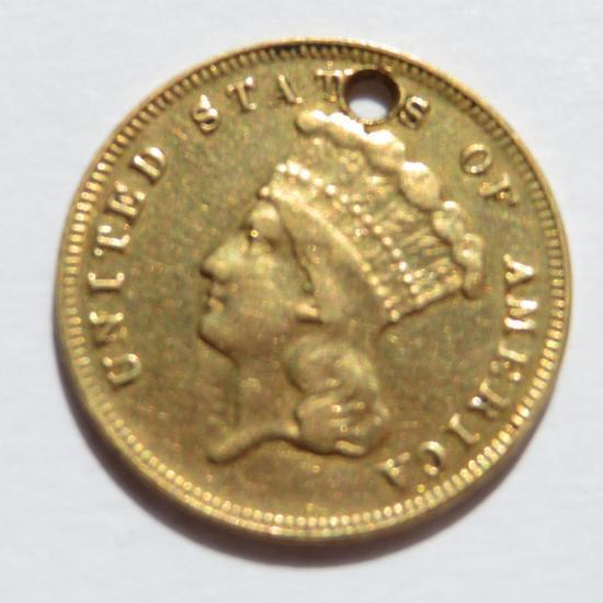 1868 Three Dollar Gold Piece