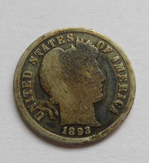 1893 Barber Dime