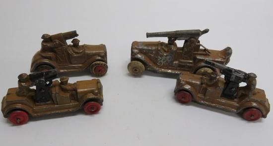 "Barclay Die Cast army vehicles, 3"" and 4"""