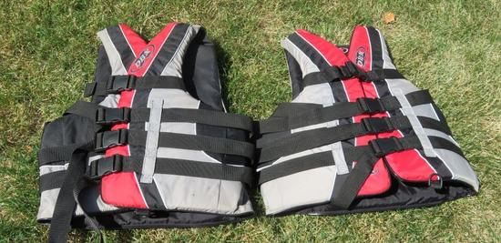 Two DBX Life Jackets, Large/XL