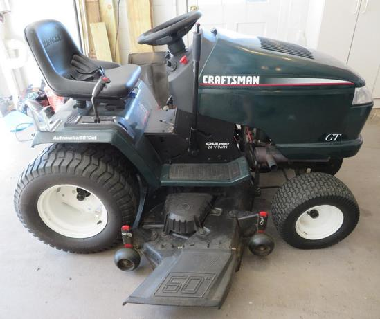 "Craftsman riding mower, 50"" cut, 24 V Twin Koehler Pro"