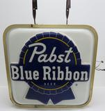 Nice Pabst Blue Ribbon Two Sided Tavern Light, 25