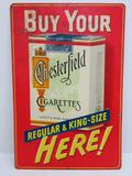 Buy Your Chesterfield Cigarettes, metal advertising sign, 12