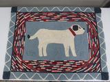 Dog hook rug, 38