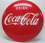 Large Drink Coca Cola Disc sign, 36