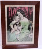 The Household Pets, period framed, Currier and Ives, 12