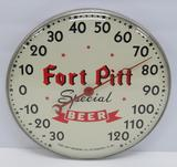 Fort Pitt Special Beer round thermometer, PA, 12