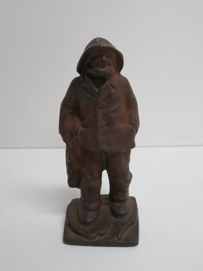 Cast Iron Fisherman doorstop, 6 1/2""