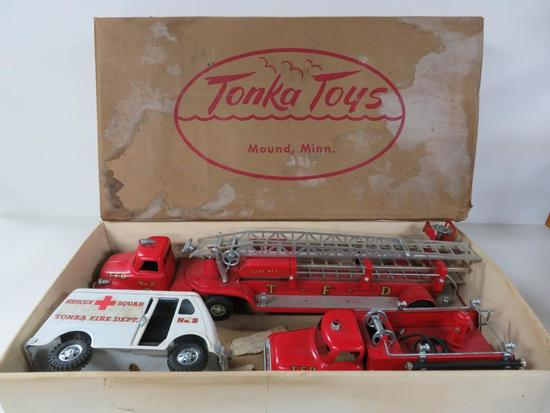 Tonka #900-6 Fire Department set with box