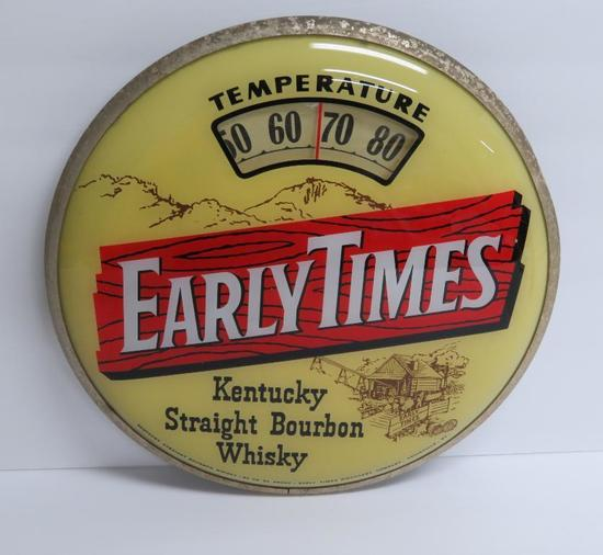 """Early Times Kentucky Bourbon Whiskey round Thermometer, 13"""""""