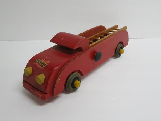Wooden Buddy L Ladder Truck, 12 1/2""