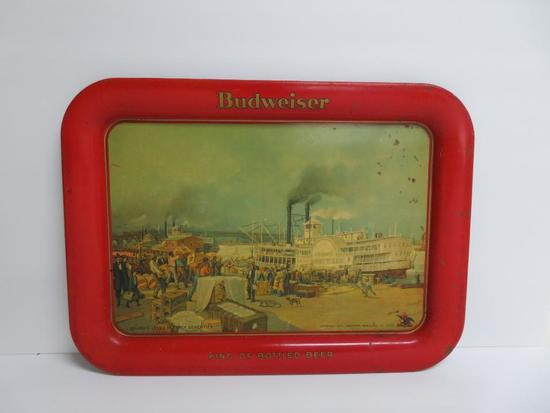 "1914 Budweiser Beer Tray, US Mail Robt E Lee Boat, 17 1/2"" x 12 3/4"""