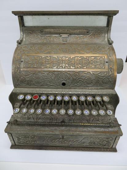 National Cash Register, model 33, ornate, $5, serial #46521