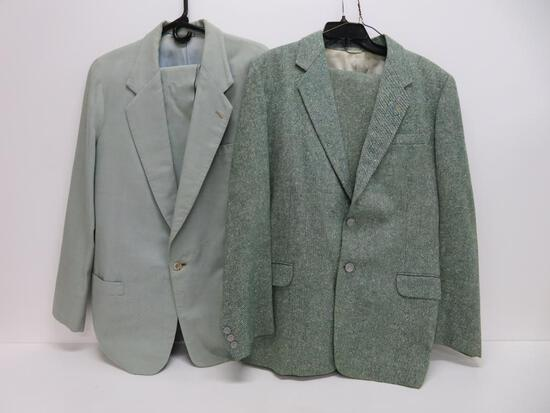 """Two """"Pritzlaff"""" custom made suits, Pritzlaff hardware owner business suits"""