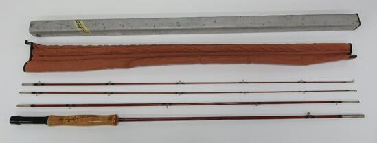 Phillipson Premium 8 1/2' bamboo fly rod with metal case