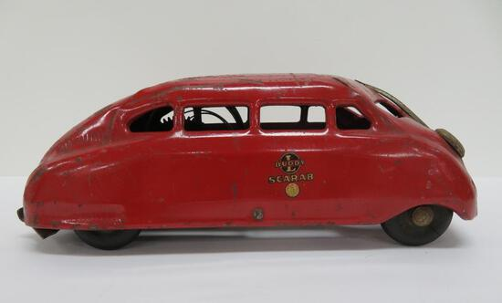 Buddy L Scarab car, with decal, 9 1/2""