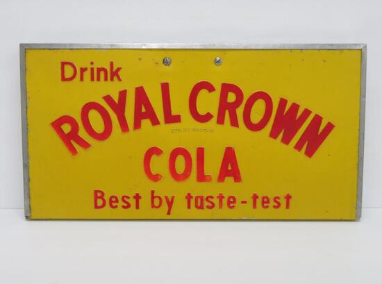 Drink Royal Crown Cola, Best by Taste-test, hanging sign
