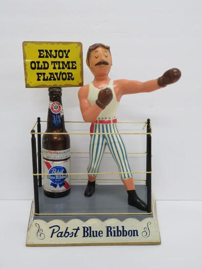Pabst Blue Ribbon Boxer display sign, 15""