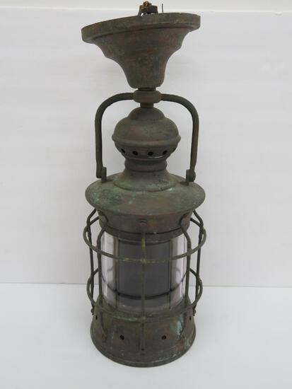 "Nautical light, 15 1/2"", electrified"