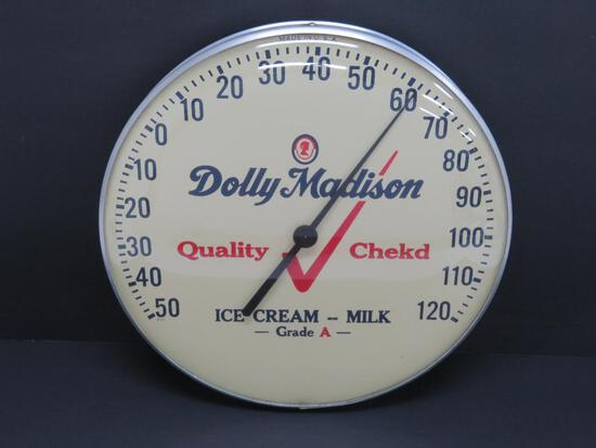 Dolly Madison advertising thermometer, Ice Cream Milk, 12""