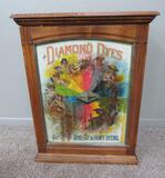 Diamond Die Cabinet, tin front, with original packets inside,oak