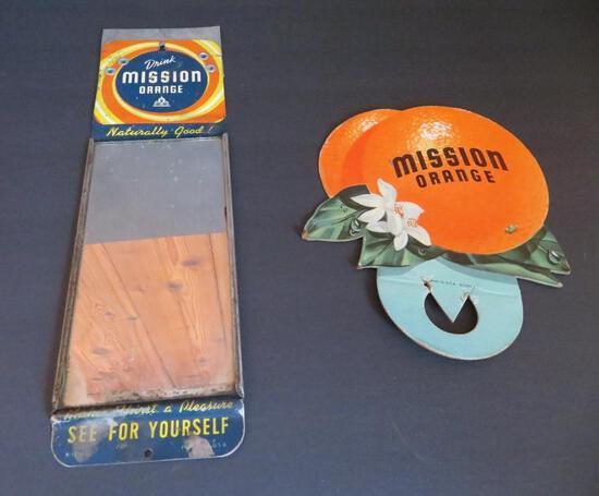 Mission Orange soda advertising