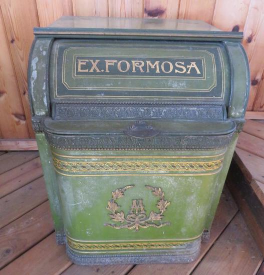 Large Henry Troemner, Ex. Formosa roll top tea bin