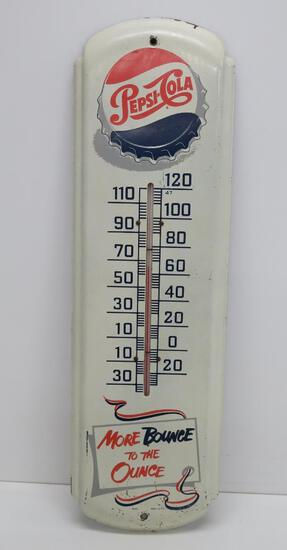 """Pepsi thermometer, 27"""", More Bounce to the Ounce"""