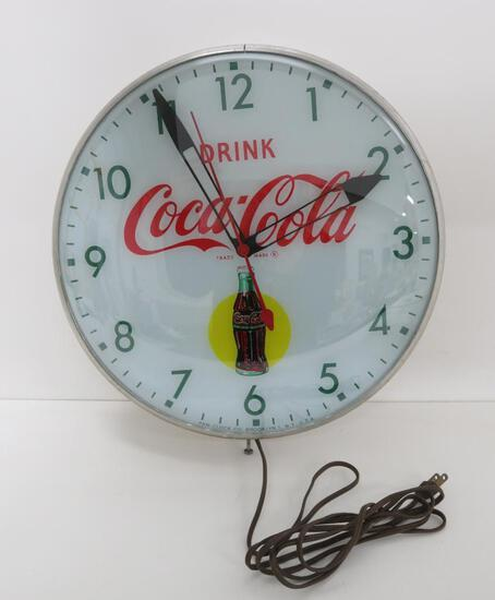 "Drink Coca-Cola clock, 15"", light up"