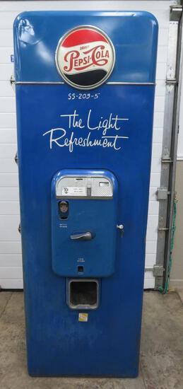 Pepsi 10 cent, Vendo soda machine, VMC SA 144, The Light Refreshment, bottle cap front