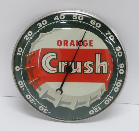 """Orange Crush themometer, 12"""", Pam Clock Co"""