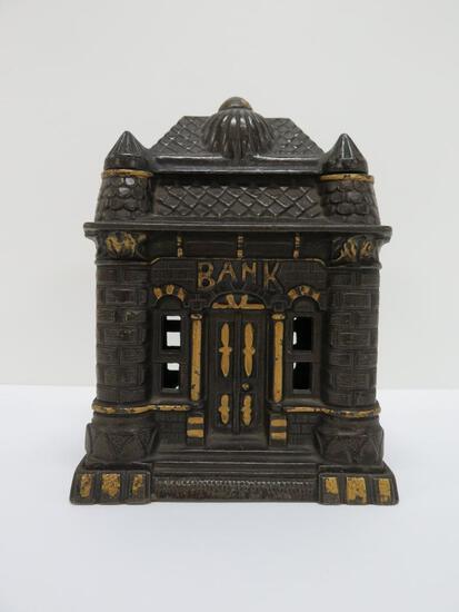 "Cast iron Bank building still bank, 6"""