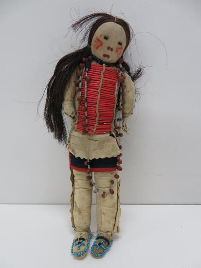 "Native American Doll, 10"""