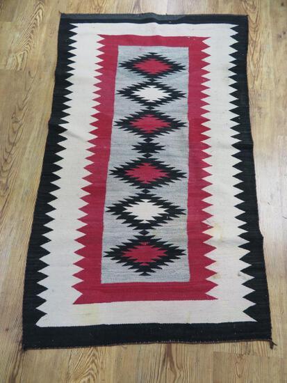 "Navajo Rug, 66"" x 42"""