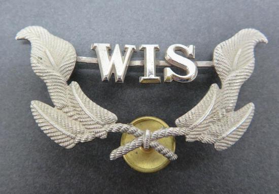 "Wisconsin Military Hat Emblem, 3"""