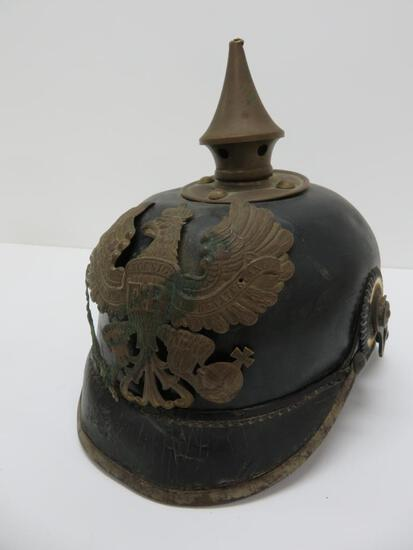 German WWI Prussian Pickelhaube Spiked Helmet